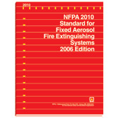 NFPA 2010 - Standard for Fixed Aerosol Fire Extinguishing Systems