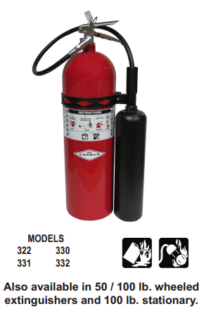 Amerex Carbon Dioxide CO2 Fire Extinguishers in New York City, New York