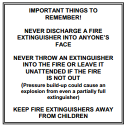 Important Fire Extinguisher Safety Facts