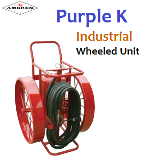 Wheeled Unit Fire Extinguisher Purple K Amerex in National City, California